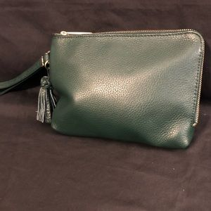 Talbots Leather wristlet pouch
